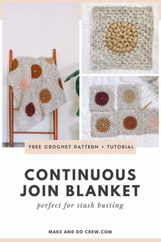 Crochet Quilt, Crochet Yarn, Free Crochet, Crochet Throws, Crochet Mandala, Crochet Afghans, Crochet Stitches, Crochet Blanket Tutorial, Modern Crochet Blanket