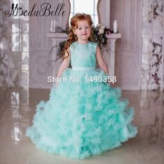 Find More Flower Girl Dresses Information about Ruffles Puffy Cloud Little Flower  Girl Dresses Mint Green Kids Prom Dresses 10 Year Old Children Graduation  ... 9fe760d85ff8