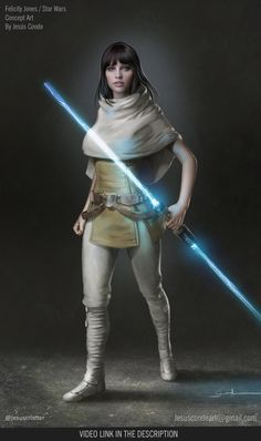 Felicity Jones as a Jedi / Starwars Fan Art by JesusAConde on DeviantArt - Felicity + Star Wars = perfect combination! Description from jesusaconde. I searched for t - Star Wars Fan Art, Star Wars Concept Art, Star Wars Characters Pictures, Images Star Wars, Star Wars Pictures, Star Wars Jedi, Rpg Star Wars, Felicity Jones, Star Wars Collection
