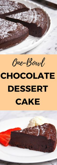 This one bowl dessert cake is dark, decadent and delicious and is super easy to make with or without a Thermomix.