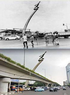 Tugu Dirgantara, Bunderan Pancoran, Jakarta, 1980an dan 2013