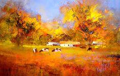 Artwork of Derric van Rensburg exhibited at Robertson Art Gallery. Original art of more than 60 top South African Artists - Since South African Artists, Original Art, Art Gallery, Van, Landscape, Artwork, Painting, Watercolor, Art Museum