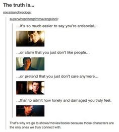 When a Tumblr post makes you realize that you actually do these things...and that is why...