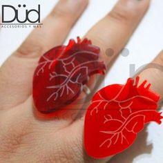 Happy Valentine's day! Laser cut heart ring fb:Accessorios Düd #lasercut #realheart #heart #valentine #handmade by dudehernandez