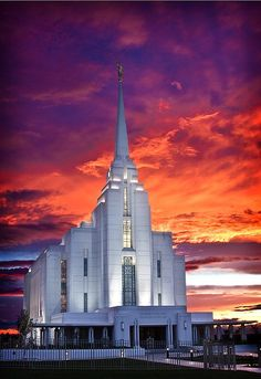 Rexburg, Idaho LDS Temple    #MormonLink #LDSTemples.I want to go see this place one day.Please check out my website thanks. www.photopix.co.nz