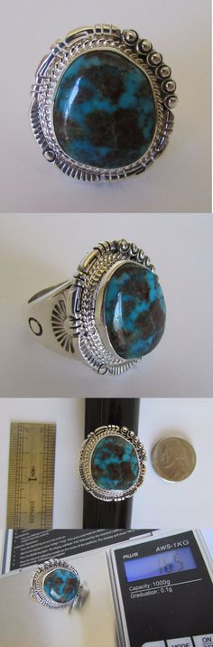 Rings 98500: Native American Navajo Gem Grade Bisbee Turquoise Ring Size 10 Bennie Ration BUY IT NOW ONLY: $760.0