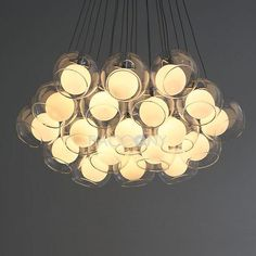 Modern Pendant Lights Contracted Glass with 19 Lights