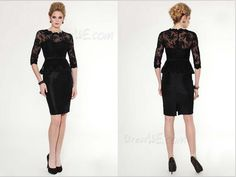 Fashion Concise Embroidery Half Sleeves Column Little Party Dress
