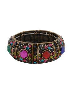 Bejeweled Panel Bracelet   FOREVER21 - 1086806358