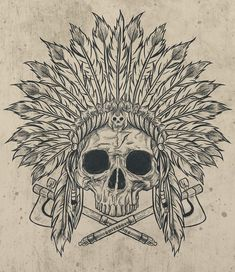 Skull Print - tattoo idea