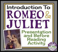 ROMEO AND JULIET INTRODUCTION: Presentation & Activity (Background Information) from Presto Plans on TeachersNotebook.com - (23 pages) - If you are teaching Romeo and Juliet and you don't know where you begin, this presentation and activity are a great way to kick off your unit!