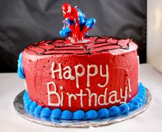Spiderman Cake Ideas for Little Super Heroes - Novelty Birthday Cakes 25th Birthday Cakes, Novelty Birthday Cakes, Happy Birthday, Birthday Ideas, Mini Party, Party Sweets, Bakery Recipes, Cakes For Boys, Cakes And More