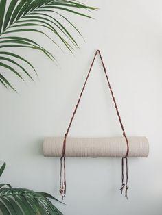 Handmaid Braided Leather Yoga Mat Strap by SiennaJanette on Etsy