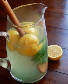 Lemon, Ginger and Basil Iced Tea