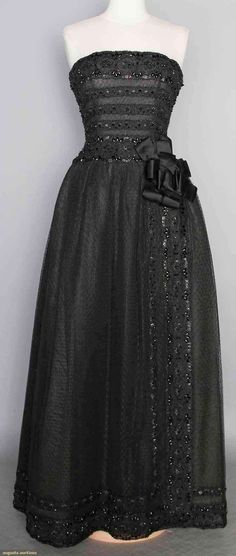 Jean Patou Beaded Gown, Paris, Late 1950s, Augusta Auctions, November 12, 2014