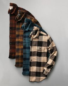 Lineup of @filson1897 flannels... which one is your favorite?  Follow @runnineverlong on Instagram for more inspiration  #flannel #shirt #flannelshirt #menswear #mensfashion #men'sapparel