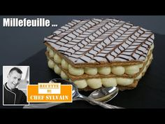 Millefeuille - Recipe by Chef Sylvain! Pastry Recipes, My Recipes, Sweet Recipes, Cookie Recipes, Dessert Recipes, Dessert Simple, Cake Videos Youtube, Cheese Omelette, Easy Cake Decorating
