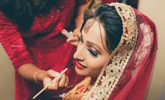 """Photo from album """"Wedding photography"""" posted by photographer Framechasers weddings Bridal Make Up, Wedding Make Up, Bun Hairstyles, Wedding Hairstyles, Red Lip Makeup, Wedding Preparation, Gold Choker, Eyeshadows, Red Lips"""