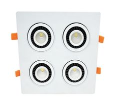 Rotate 360 degrees 4*7W 4 Head COB LED Downlight all with power Driver COB LED Down Light discount chandelier Ceiling #Affiliate
