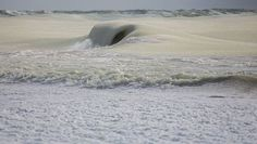 Nearly Frozen Waves Captured On Camera By Nantucket Photographer