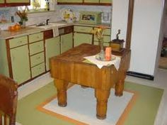 painted floors for cottage kitchen - Google Search