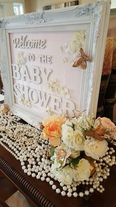 Mint And Peach Baby Shower