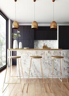 Modern island lighting Rectangular Modern Kitchen With Gold Accents Interior Design Kitchen Marble Interior Modern Kitchen Designs Shahholidaysco 142 Best Island Lighting Ideas Images In 2019 Kitchen Islands