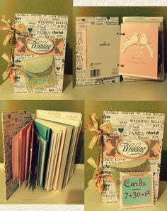 Wedding Card Book ~ Wanted to save all the pretty cards I got and look at them when I wanted! Super easy and cute.