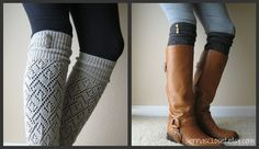 The LouLou light grey Openwork Legwarmers with by GraceandLaceCo, $26.00