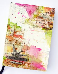 KOLOROWY ptak-cover of an art journal love the colors and the composition