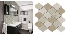 Attractive beige colors alternating white in a modern arabesque pattern make these mosaic tiles one of the most appealing shower tile ideas available today. Porcelain is among the most durable tile materials, similar to Ceramic, making this arabesque tile perfect for bathroom and shower applications. With the timeless Arabesque pattern inspired by Arabic architecture, these shower tiles demand attention and enhance the appearance of any space. Arabesque Tile, Arabesque Pattern, Shower Tiles, Italian Marble, Tile Ideas, Beige Color, Pattern Making, Mosaic Tiles, Porcelain