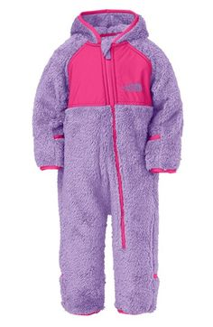The North Face 'Plushee' Fleece Bunting (Baby Girls) available at #Nordstrom