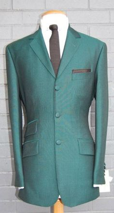 Mohair Suit - Bottle Green - Pure New Wool Kid Mohair