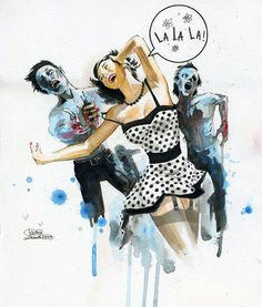 Full exclusive collection of Lora Zombie Fine Art Prints, Limited Editions, Original Art & More. The best selection and source of Lora Zombie Wall Art. Pin Up Zombie, Lora Zombie, Arte Zombie, Zombie Art, Zombie Eyes, Zombie Plan, Dead Zombie, Arte Grunge, Grunge Art