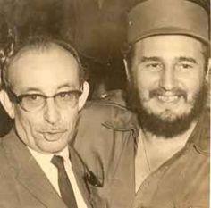 Raúl Roa con fidel en 1960.