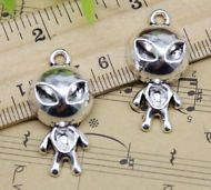 10//30//50pcs retro Jewelry Making DIY swordfish alloy charm pendants 16x21mm