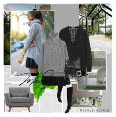 """""""Black and Grey"""" by rainie-minnie ❤ liked on Polyvore featuring Yves Saint Laurent, Steel 