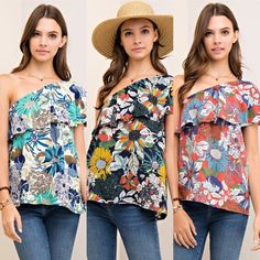 One shoulder top $31 Comment below with PayPal to purchase and ship or comment for 24 hour hold #repurposeboutique#shoprepurpose#boutiquelove#style#trendy#musthaves#obsessed#fashion#spring#entro#omeshoulder