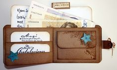 Great idea, especially when giving more than one gift card as a gift. Gift Cards Money, Diy Cards, Masculine Birthday Cards, Masculine Cards, Fancy Fold Cards, Folded Cards, Scrapbook Cards, Scrapbooking, Mini Albums