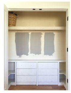 Ikea hack closet built ins