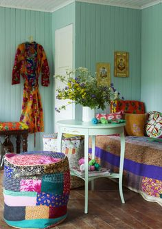 Beautiful Indian inspired textiles and furniture