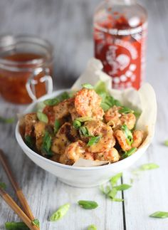 Skinny Bang Bang Shrimp with Homemade Sweet Chili Sauce