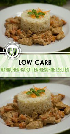Das Hähnchen-Karotten-Geschnetzeltes ist low-carb, glutenfrei und einfach zu kochen.