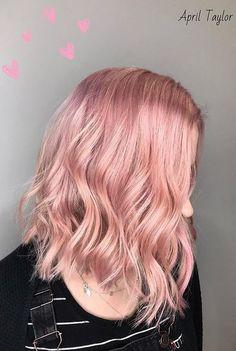 pastel pink hair color