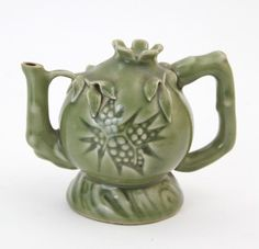 "Celadon Glazed of Pomegranate Formed Water Drop 5 1/8""L x 4 1/8""H"