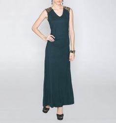 Evening Shimmer Green Long Dress