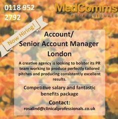 Brilliant Account Manager Role Available With A Leading Medical