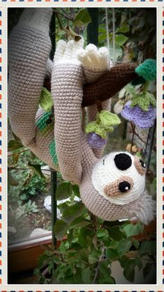 FAULI the sloth crochet pattern by asik33 on Etsy