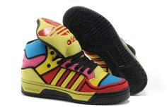 Top Design Adidas ObyO 2013 Unisex Colorful Yellow Blue Running Shoes