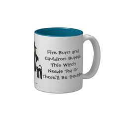 This Witch Needs Tea! Tea-addicts Wiccan Pagan Cup/Mug www.cheekywitch.com #zazzle #witch #tea